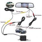 ROGUCI Dax 4.3 Zoll Farbe Rückfahrkamera LCD Nachtsichtgerät Kamera Webcam Auto Rückfahrkamera Kamera + 4.3″ Innenspiegel /Rückspiegel TFT LCD Monitor Fernbedienung & Standfuß Für Auto Rückfahrkamera monitor