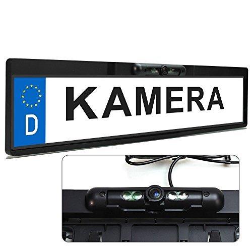 xomax xm 014 farb rueckfahrkamera mit nummernschild kennzeichen halterung und nachtsicht funktion infrarot led 120 grad blickwinkel aufloesung 648 x 488 pixel farb cmd sensor lichte - XOMAX XM-014 Farb-Rückfahrkamera mit Nummernschild / Kennzeichen Halterung und Nachtsicht Funktion / Infrarot LED + 120° Grad Blickwinkel + Auflösung: 648 X 488 Pixel + Farb CMD Sensor + Lichtempfindlichkeit nur 0,5 LUX + Videoanschluss: 1 x Cinch + Stromversorgung: 12V + Staubdichte/Wasserdichte: IP67
